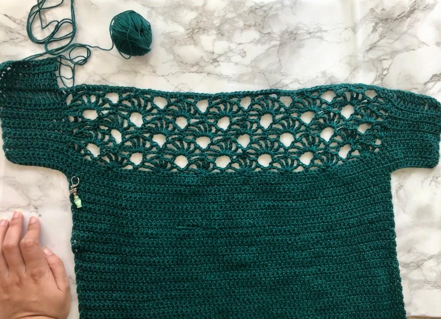 crochet summer fan top