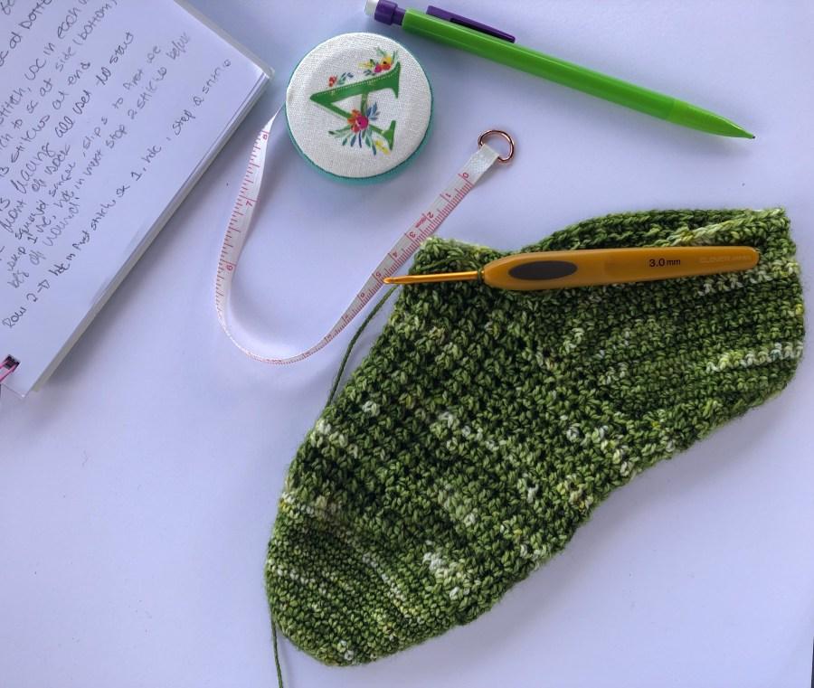 star wars crochet socks