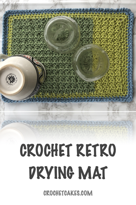 crochet retro drying mat