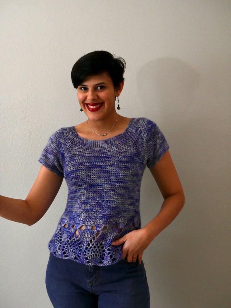crochet fingering weight top