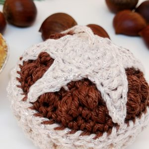 Crochet Mince Pie Christmas Bauble - Free Crochet Pattern - Crochet Cloudberry