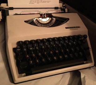 the typewriter nanny and grandad got C.