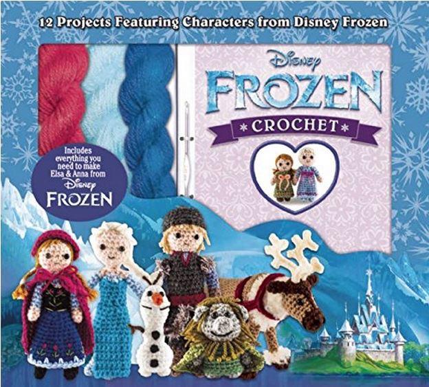 Disney Frozen Crochet Kit! Includes yarn and 12 crochet patterns!