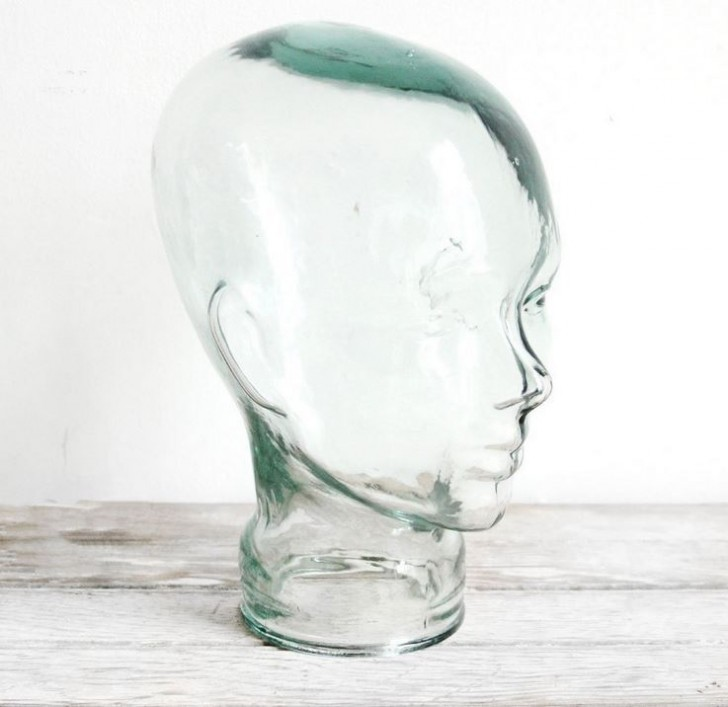 Finding a ready and willing model for your crochet creations can be difficult - but a recycled glass head is the perfect option! No more dinged up, scruffy foam - this head is sturdy, sleek, and blends into the background while focusing all eyes on your work.