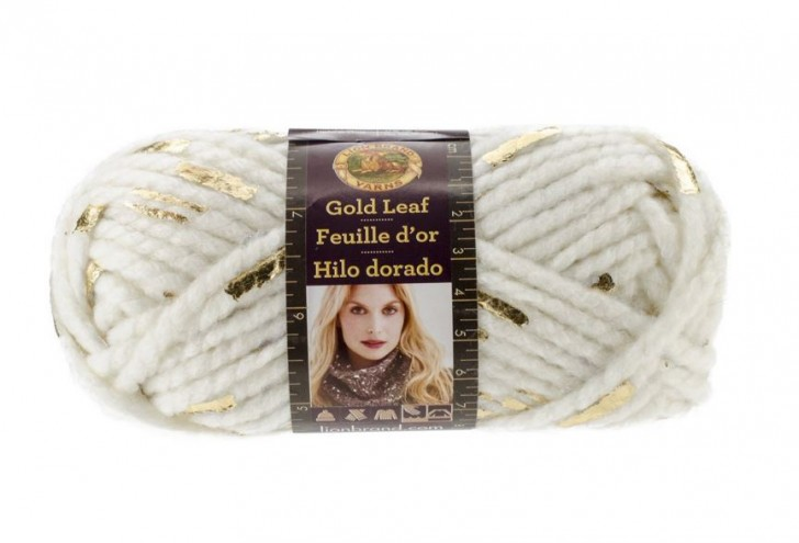 Lion  Brand Yarn Gold Leaf - super bulky and so shiny!
