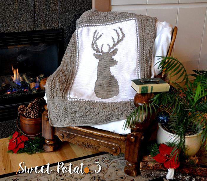 Deerly Beloved Blanket - crochet envy