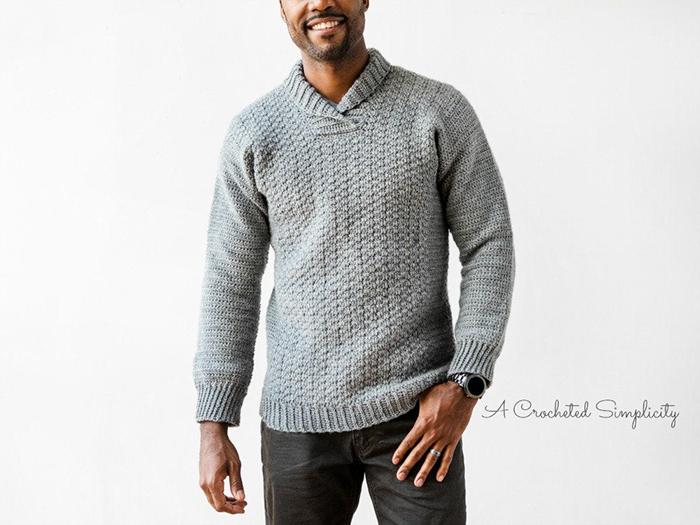 WULF Men's Crochet Pullover - crochet envy