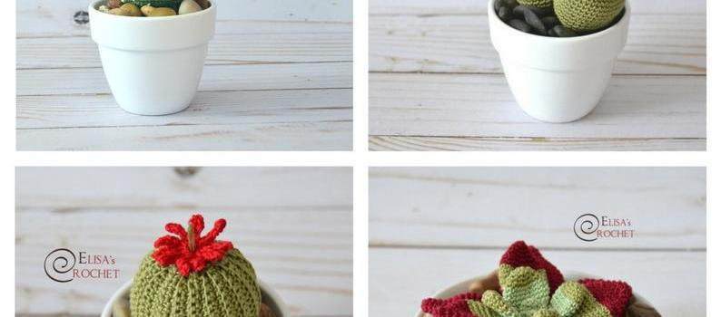 Amigurumi Succulents – These need even less water then regular succulents!