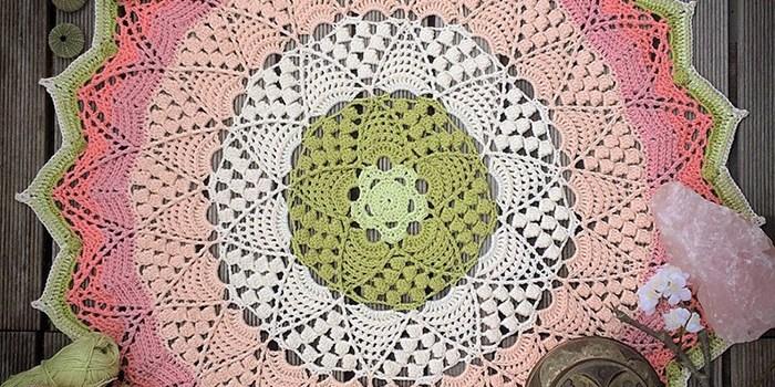 Lotus & Blossom Mandala Crochet Pattern