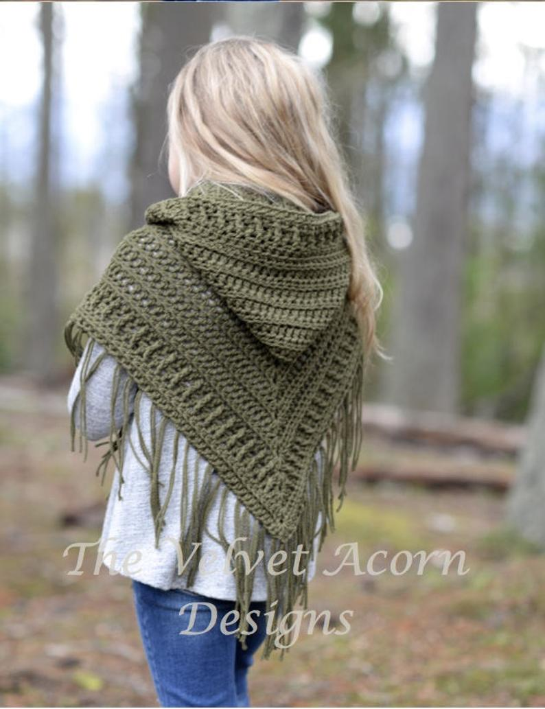 The Brocade Shawl (toddler, child and adult sizes) - crochet envy