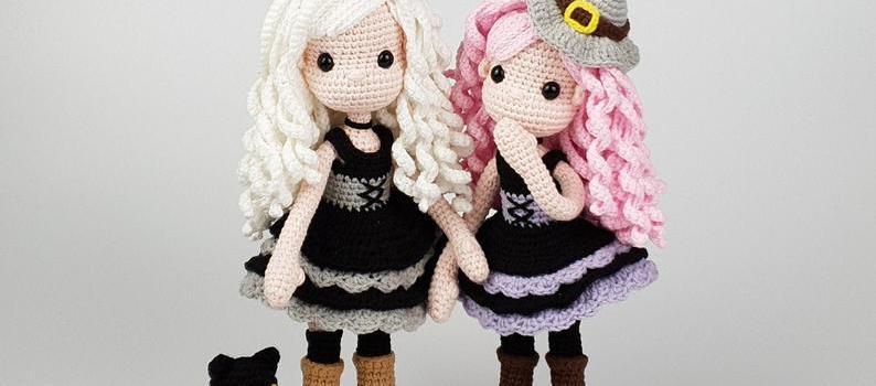 Amigurumi Witch and Cat crochet pattern