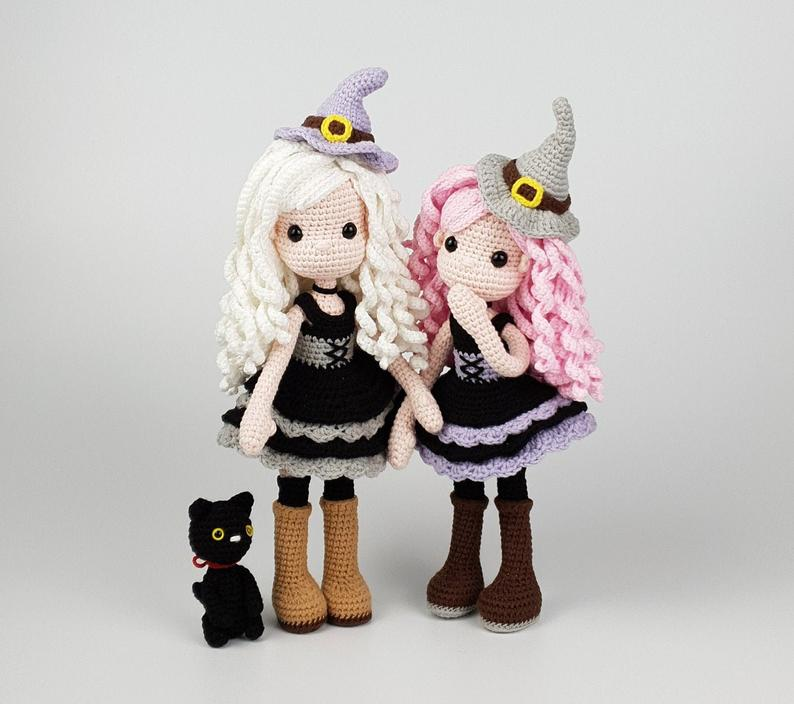 Amigurumi Witch and Cat