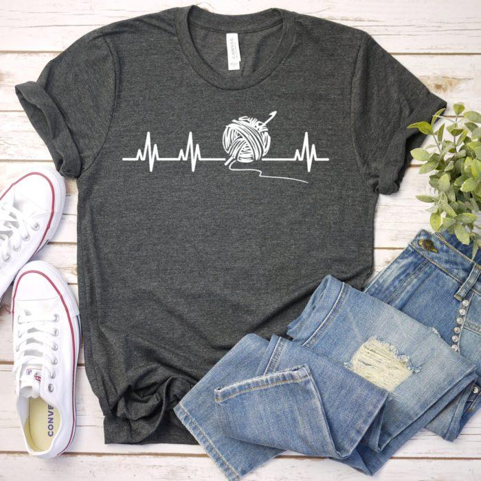 Crochet Heartbeat Tshirt
