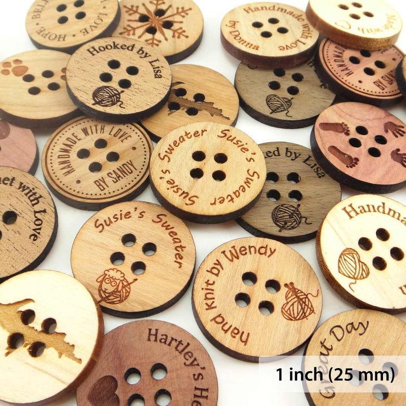 Personalized Wood Buttons