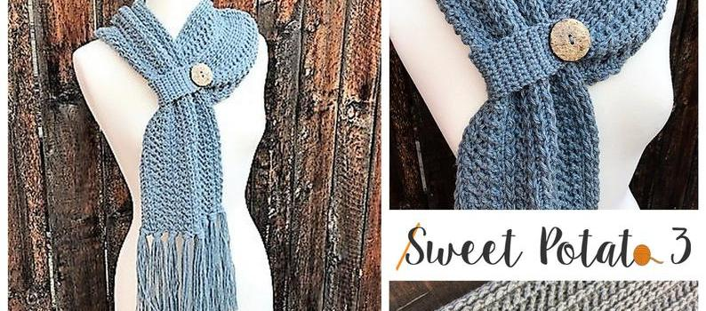 Winter Wishes Scarf Crochet Pattern by Sweet Potato 3 Patterns