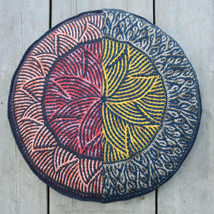 Brioche Crochet Helios Mandala