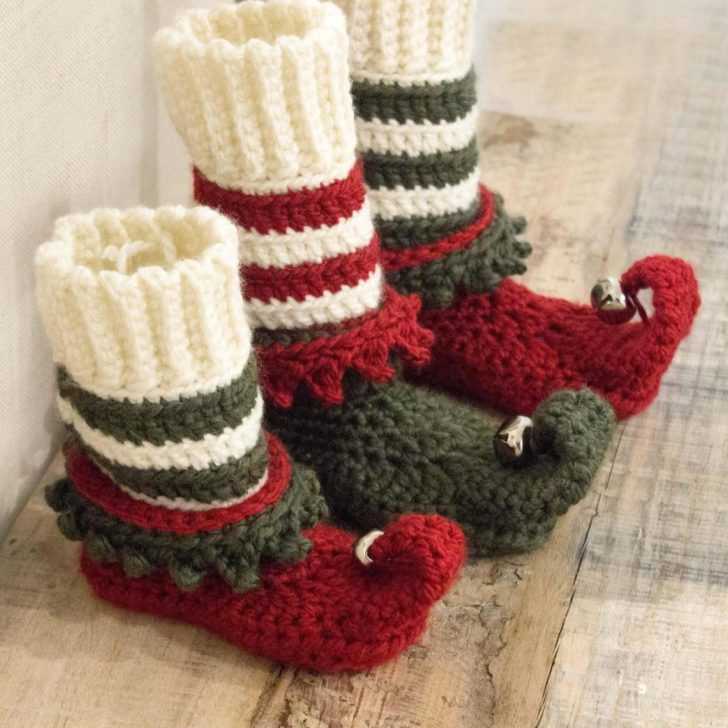 Crochet Elf Shoes Pattern