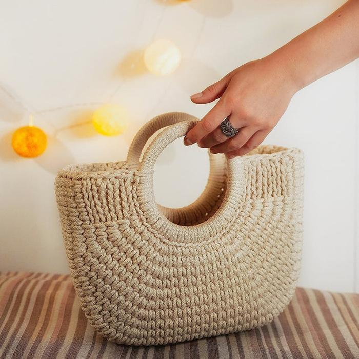 Crochet Basket Bag by CORDDECO