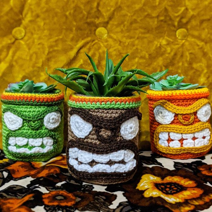 Tiki Planter Crochet Pattern