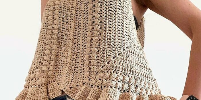 Liv Granny Square Crochet Top Pattern by isWoolish