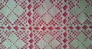 Mantel con motivo crochet