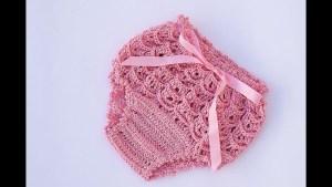 Cubre pañal niña crochet