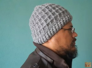 Gorro crochet hombre