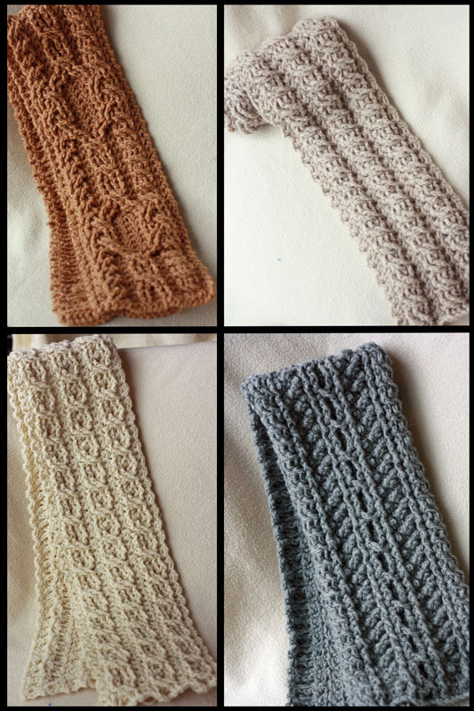 Canyon River Cable Scarves - Click Image to Close