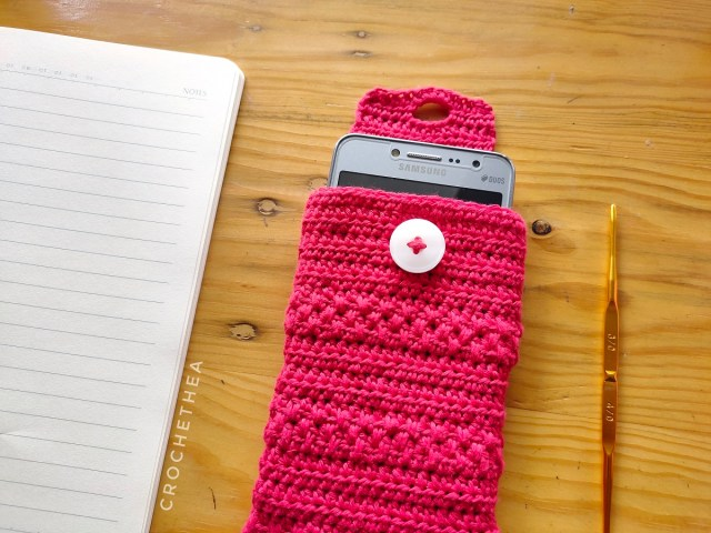 Simply Elegant Cell Phone Crochet Pouch