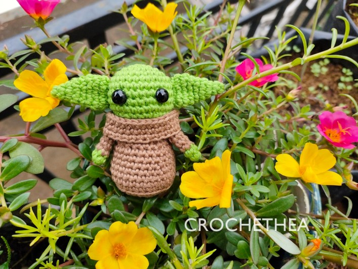 baby yoda the child amigurumi