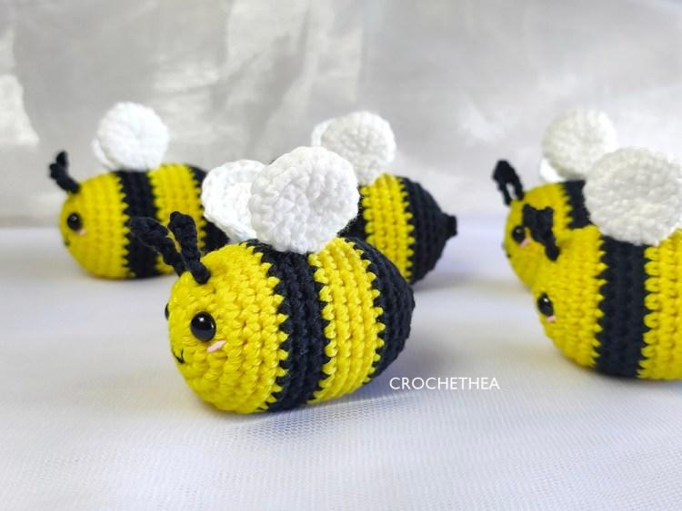 boneka rajut amigurumi lebah imut