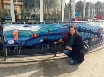 Ocean theme yarnbomb, Genoa