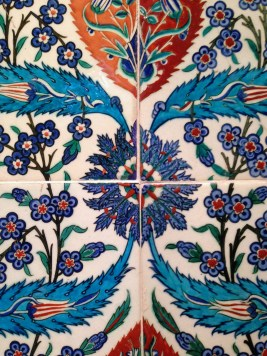 Iznik tiles from Turkey, 1580