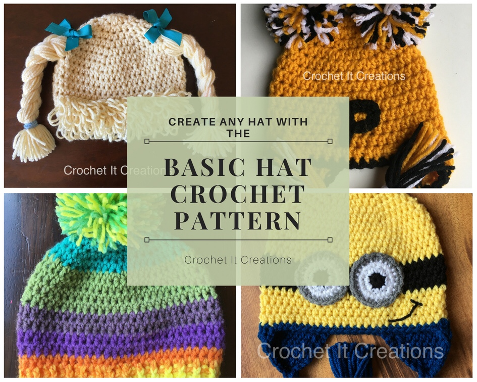 Basic Hat Crochet Pattern Crochet It Creations