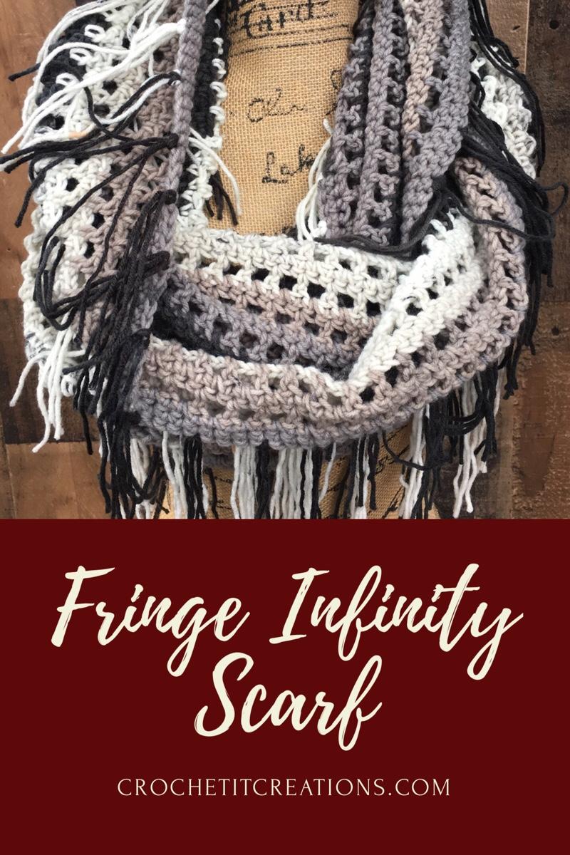 Fringe Infinity Scarf Crochet Pattern Crochet Pattern Crochet It