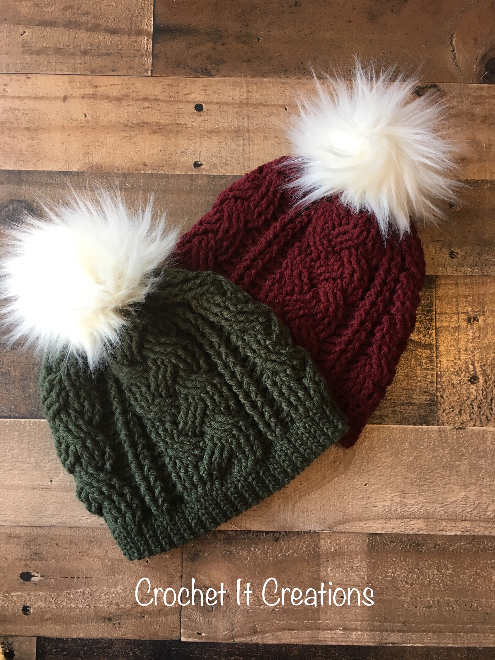 Braided Cable Beanie Crochet Pattern by Crochet it Creations