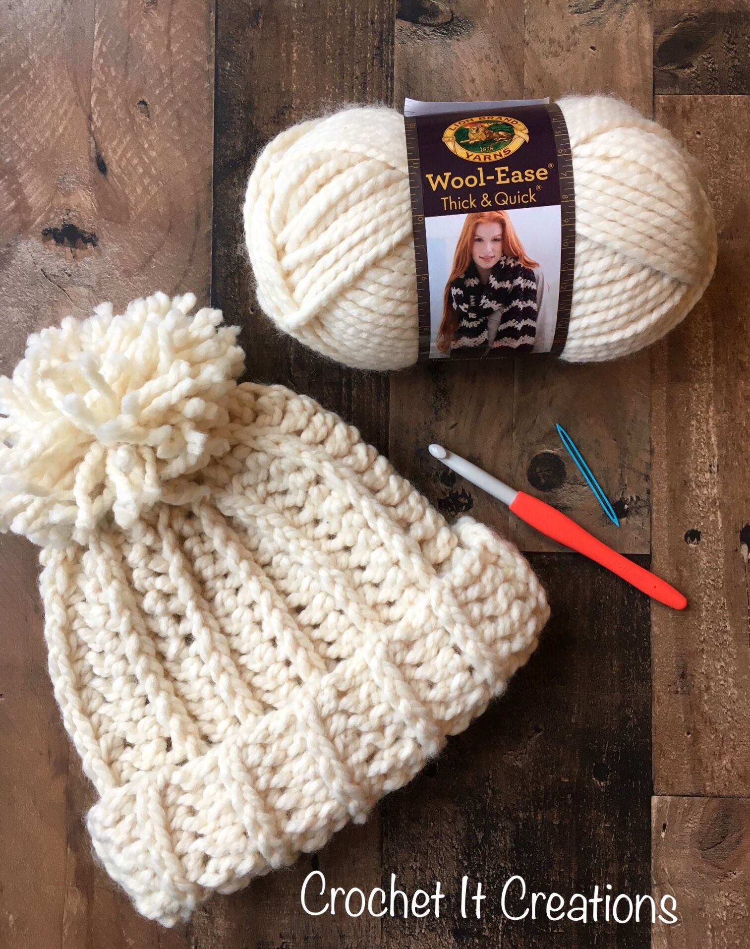 Chunky Snow Beanie Crochet Pattern - Crochet it Creations 524ea472517