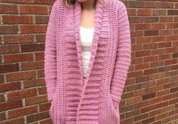 adult size cardigan free crochet pattern