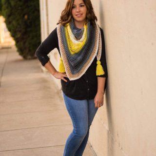 Triangle Scarf Crochet Pattern by Crochet it Creations