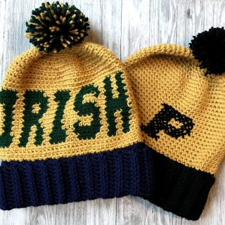 Game Day Beanie Crochet Pattern