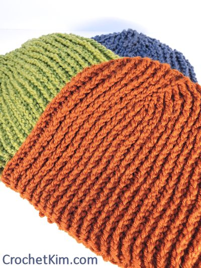 CrochetKim Free Crochet Pattern | Favorite Beanie for Men @crochetkim