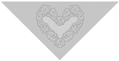 CrochetKim Free Crochet Pattern | Heart of Flowers Filet Shawl @crochetkim