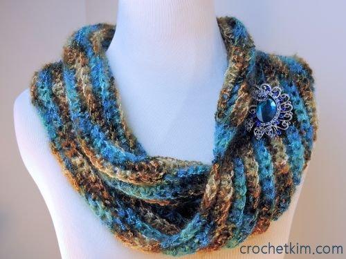 CrochetKim Free Crochet Pattern | Sea Bling Cowl @crochetkim