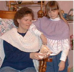CrochetKim Free Crochet Pattern | Spring Shawl and Girl's Poncho @crochetkim