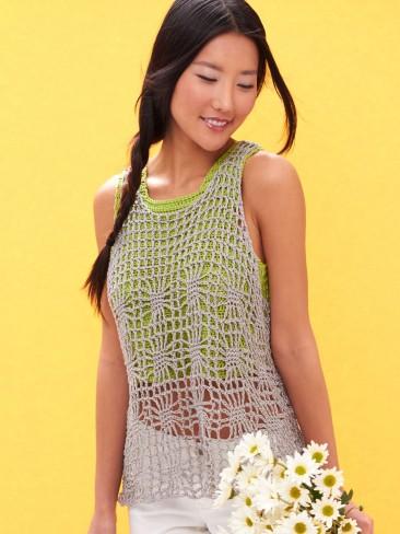 Light Layers Tank Top Free Crochet Pattern Crochetkim