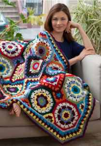 Free Crochet Pattern: In Love With Color Throw