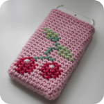 Free Crochet Pattern: Cherries Phone Cosy