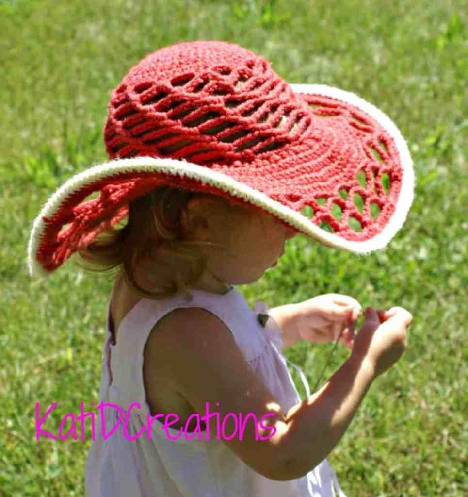Belmont Sun Hat Free Crochet Pattern Crochetkim