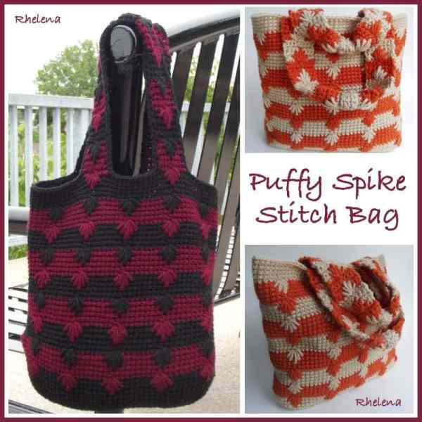 Free Crochet Pattern: Puffy Spike Stitch Bag