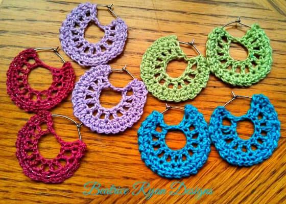Free Crochet Pattern: Summertime Earrings